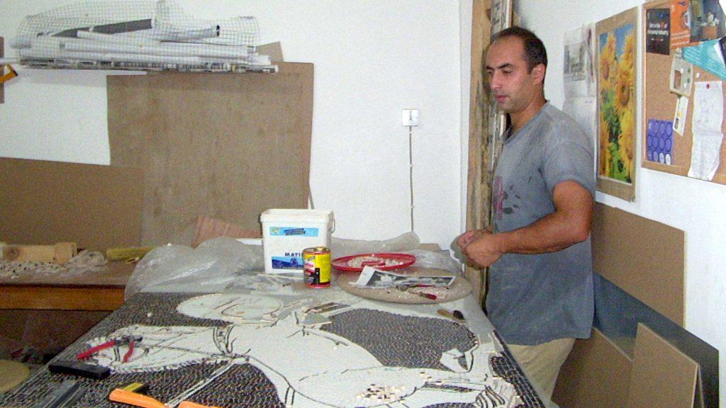 Artist Ayhan Keser Mosaic Art Period 2003